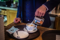 Latte Making at The White Hart Hotel, Eatery and Coffee House, Boston