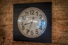 Bar Clock at The White Hart Hotel, Eatery and Coffee House, Boston