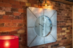 Clock at The White Hart Hotel, Eatery and Coffee House, Boston