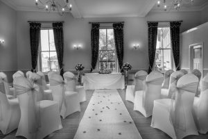 White Hart Boston wedding set BW